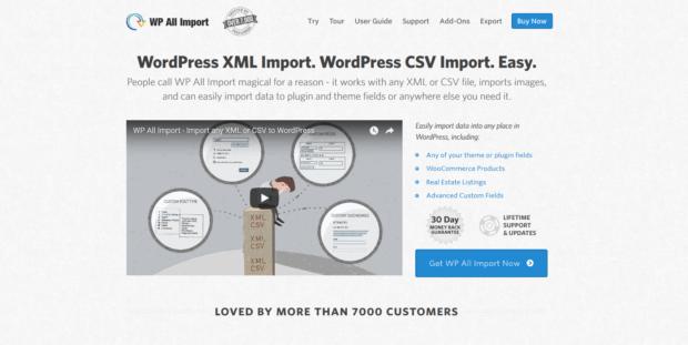 WP All Importの公式サイト