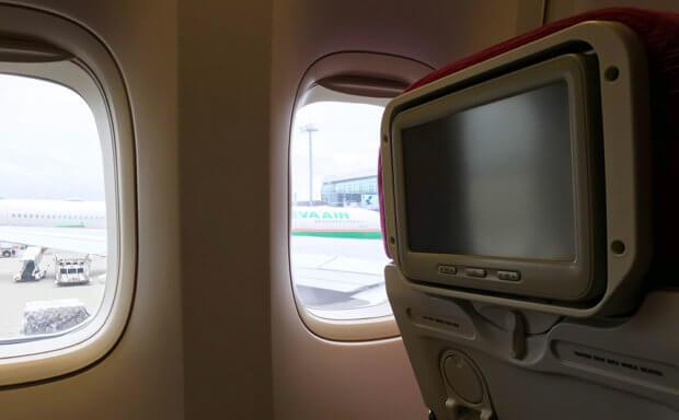 タイ航空機内から見える羽田空港