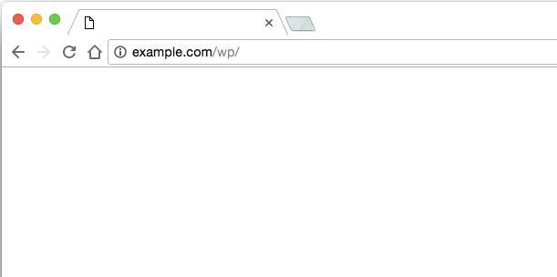 WordPress ホワイトページ