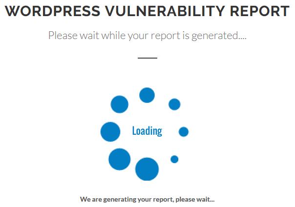wpscans.comの診断中の画面